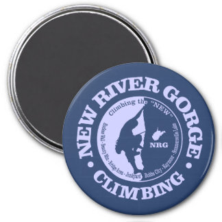 New River Gorge (Climbing) 7.5 Cm Round Magnet