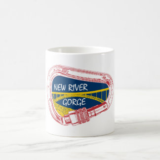 New River Gorge Climbing Carabiner Coffee Mug