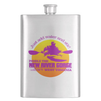 New River (sunset) Flask