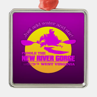 New River (sunset) Metal Ornament