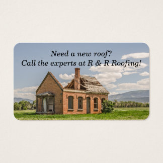 New Roof Needed on Lovely Brick House Business Card
