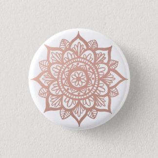 New Rose Gold Mandala 3 Cm Round Badge