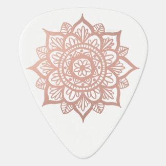 New Rose Gold Mandala Plectrum