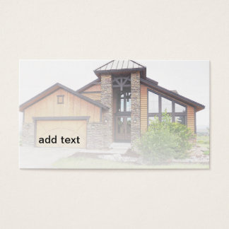 new rustic style house in Colorado Business Card