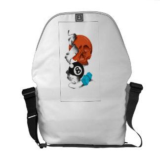 new school style, skulls, skulls, skate style, commuter bag