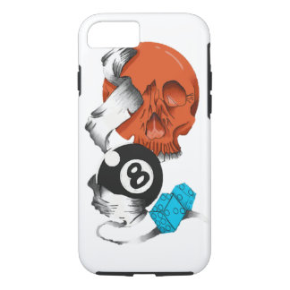 new school style, skulls, skulls, skate style, iPhone 8/7 case