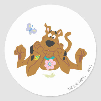 New Scooby Doo Review Pose 40 Round Sticker