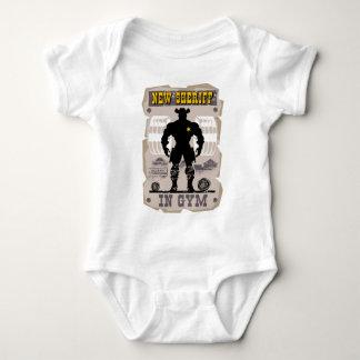new sheriff in gym baby bodysuit