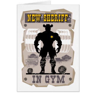 new sheriff in gym card