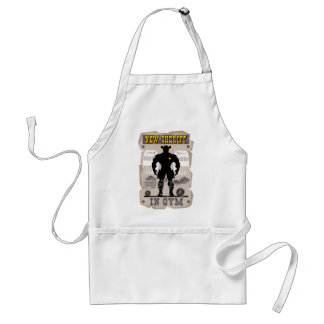 new sheriff in gym standard apron