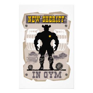 new sheriff in gym stationery