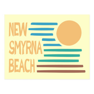 New Smyrna Beach Florida geometric design Postcard