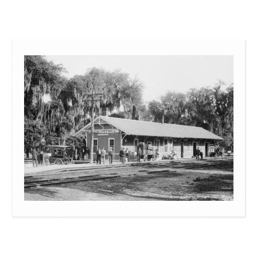 New Smyrna, Florida Railway Station, 1904 Postcards