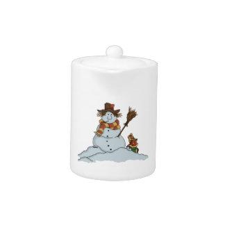 new snowman teapot