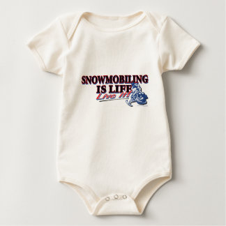 NEW-SNOWMOBILING-IS-LIFE BABY BODYSUIT
