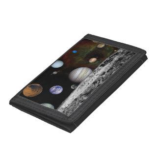 New Solar System Tri-fold Wallet