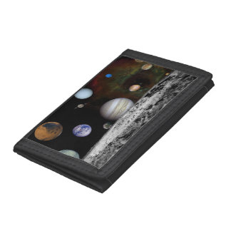 New Solar System Trifold Wallets