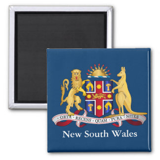 New South Wales coat of arms Square Magnet