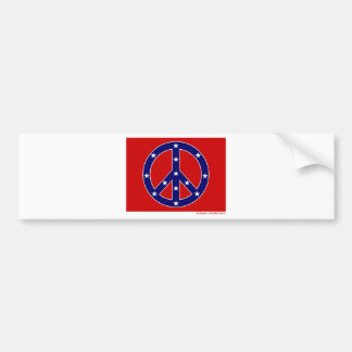 New Southern Peace Flag Bumper Sticker
