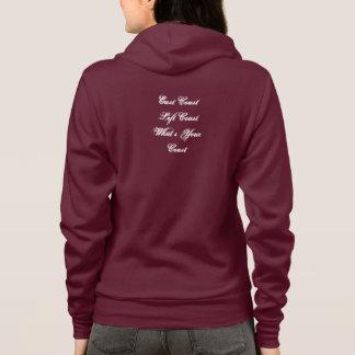 New Spring Deep Pink Fleece Hoodie Zip Jacket