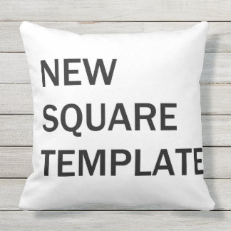 New Square Template Outdoor Pillow
