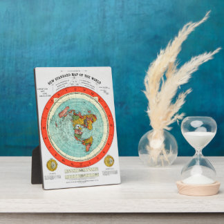New Standard Map of the World Flat Earth Earther Plaque