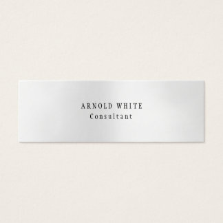 New Style Trendy Grey Minimalist Plain Modern Mini Business Card