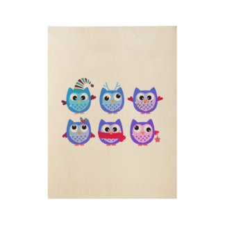 New stylish Neon owls in shop : Christmas arrival! Wood Poster