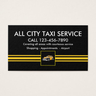 New Taxi Service Business Profile Business Card