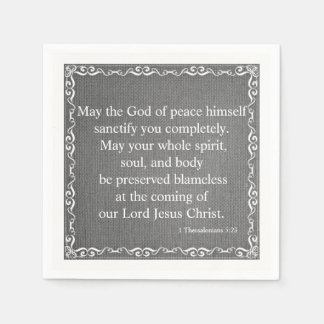 New Testament Bible Blessing- 1 Thessalonians 5:23 Paper Napkin
