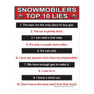 New-top-10-lies-Large-Red Postcard
