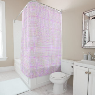 NEW_Town & Country-Pink-Shell-Check- Home-Decor Shower Curtain