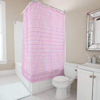 NEW_Town & Country-Sangria-Shell-Check- Home-Decor Shower Curtain