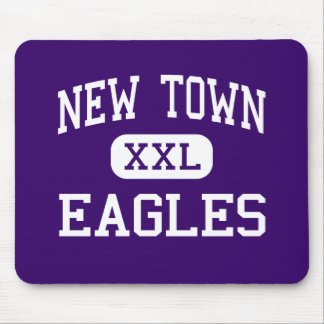 New Town - Eagles - High - New Town North Dakota Mouse Pad