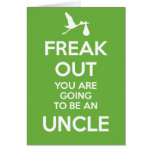 New Uncle Christmas Pregnancy Announcement  Card