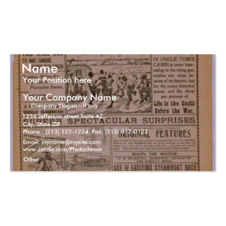 New Uncle Tom's Cabin Co. Vintage Theater Business Card