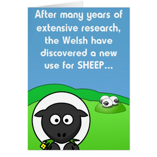 New Use 4 sheep Card