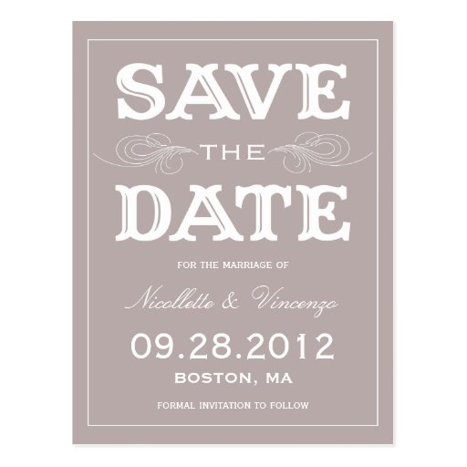 NEW VINTAGE | SAVE THE DATE ANNOUNCEMENT POST CARDS