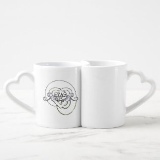 NEW Vintage Style Heart Coffee Mug Set