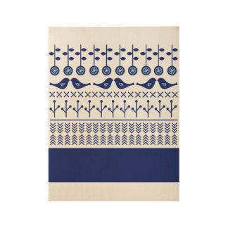 New vintage wooden Poster : with Folk design Wood Poster