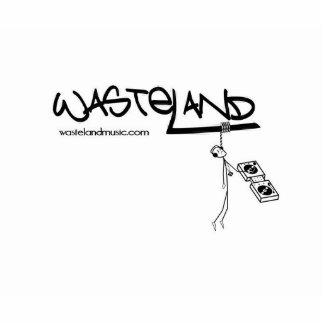 new wasteland logo standing photo sculpture