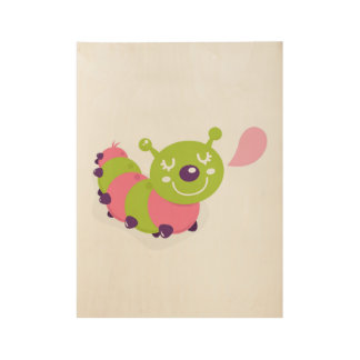 New! Wooden poster in shop with lady bug