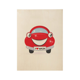 New wooden Poster with red Auto