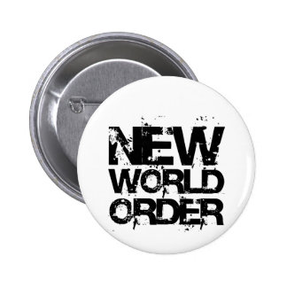 New World Order 6 Cm Round Badge