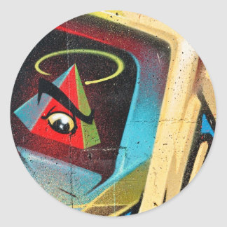 New World Order Graffiti Round Sticker