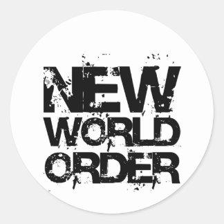 New World Order Round Sticker