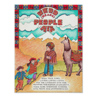 New World Recipes - Heard People Mix Poster