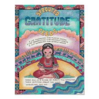 New World Recipes - Sprouted Gratitude Seeds Poster