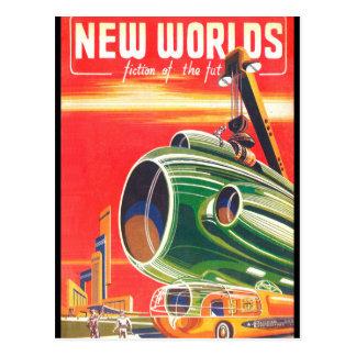 New Worlds 1950_Pulp Art Postcard