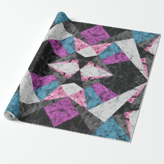 New Wrapping Paper Marble Geometric G438